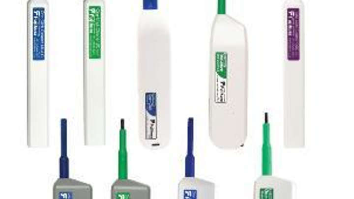 Fujikura One-Click D-LC push-type cleaners are among the newest additions to AFL's Noyes brand fiber-optic connector cleaning product line.