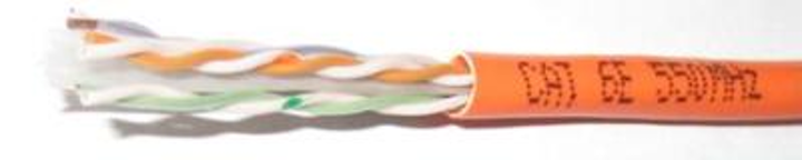 Comtran's Cat 6e 550MHz cable, which no longer has a crossweb and now measures 0.200 inches (CMP) or 0.215 inches (CMR) outside diameter