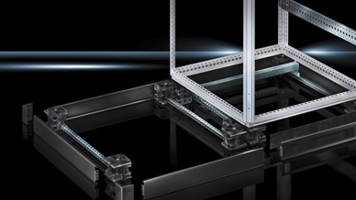 The Flex-Block plinth/base assembly from Rittal
