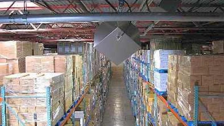 Wireless Expressways' waveguide wireless system deployed in a warehouse