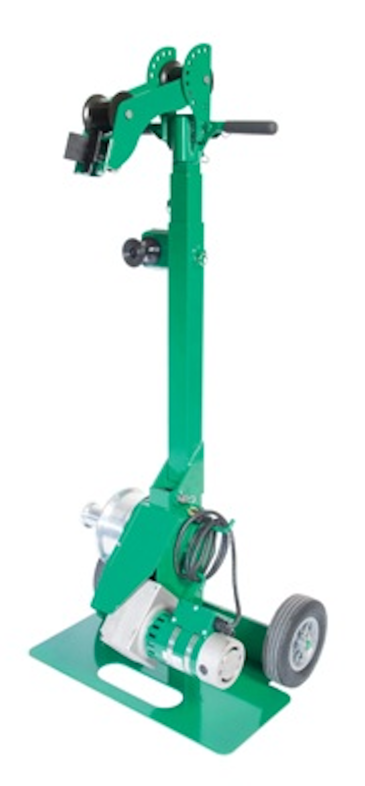 Greenlee's G3 Tugger Cable Puller has a 25 percent stronger continuous pull load, pulls cable 20 percent faster, and sets up 3 times quicker than other light cable pullers, the company says.
