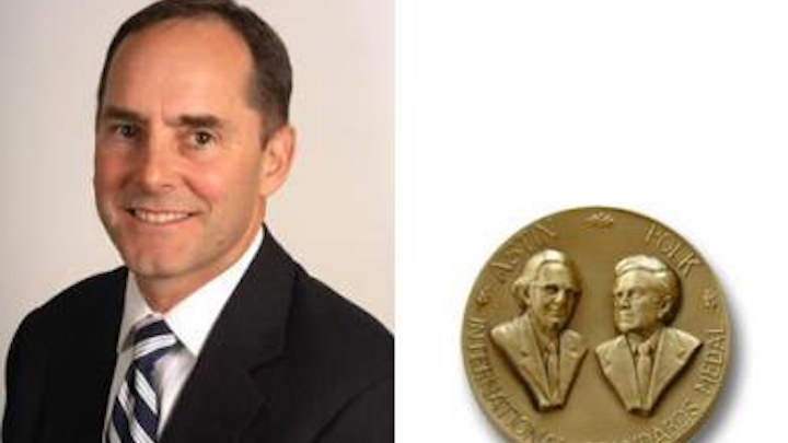 John Siemon, Siemon Company's CTO and VP of global operations, will receive the Astin-Polk International Standards Medal (shown right) from ANSI in a ceremony October 2. The award recognizes John Siemon's distinguished service in promoting trade and understanding among nations through the advancement, development or administration of international standardization, measurements or certification.