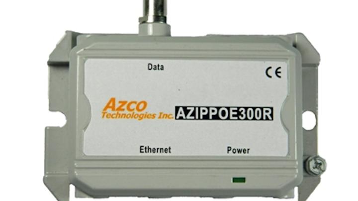 Azco Technologies' AZIPPOE300 IP/PoE Extender over Coax