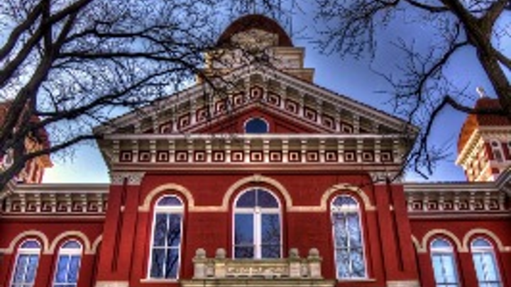 A Brivo ACS WebService access-control system provides cloud-based management, including remote management, for this historic courthouse in Crown Point, IN, which is now a mixed-use facility accessed by hundreds of people daily.