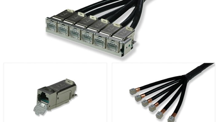 the tBL-tde Basic Link RJ45 module from trans data elektronik enables preassembled Category 6A cabling links.