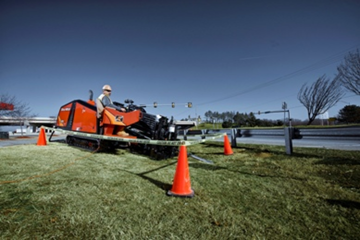 The JT25 horizontal directional drill from Ditch Witch boasts thrust and pullback of 27,000 pounds and 4,000 foot-pounds of torque.