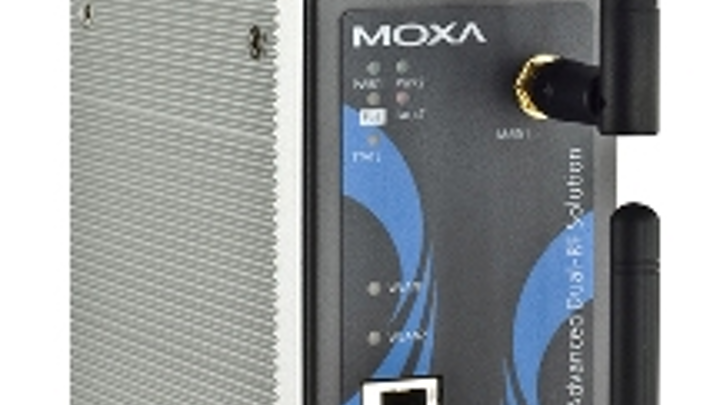 """Moxa's AWK-5222 (shown) and AWK-6222 wireless access points include the company's """"Zero Wireless Packet Loss"""" technology"""