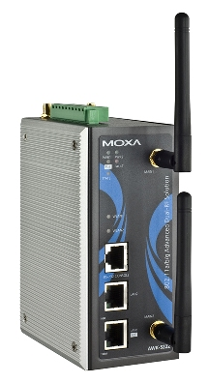 Moxa's AWK-5222 (shown) and AWK-6222 wireless access points include the company's 'Zero Wireless Packet Loss' technology