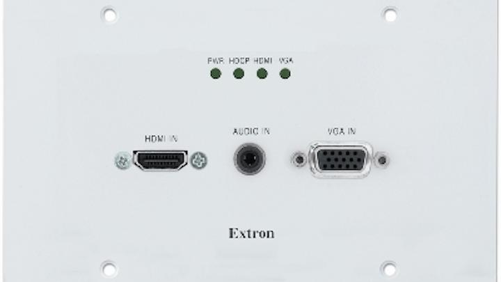 Extron Electronics' XTP T UWP 302 wallplate transmitter
