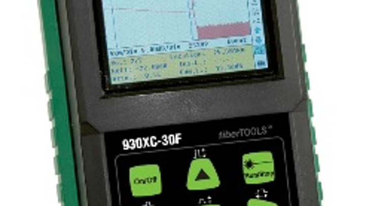 Greenlee's 930XC OTDR includes optical power meter, stabilized light source and visual fault locator capability built-in.
