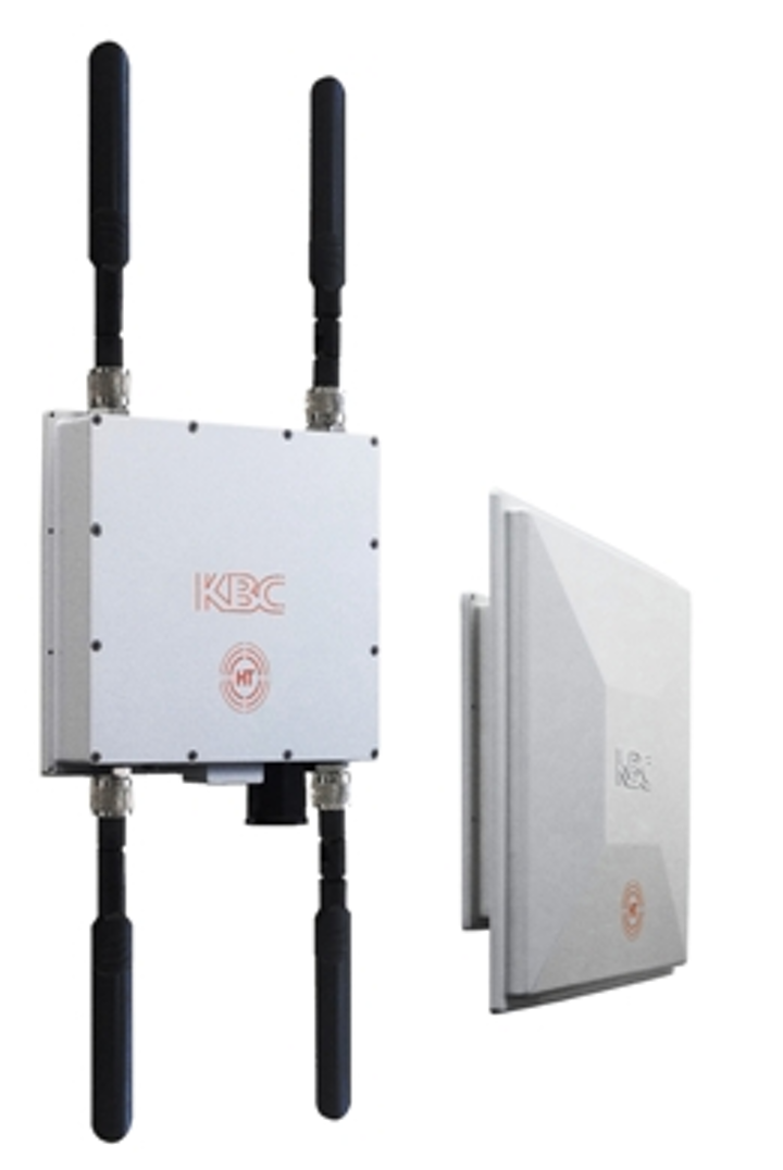 The wireless HT range from KBC Networks provide usable throughput in excess of 230 Mbits/sec across a wireless link.
