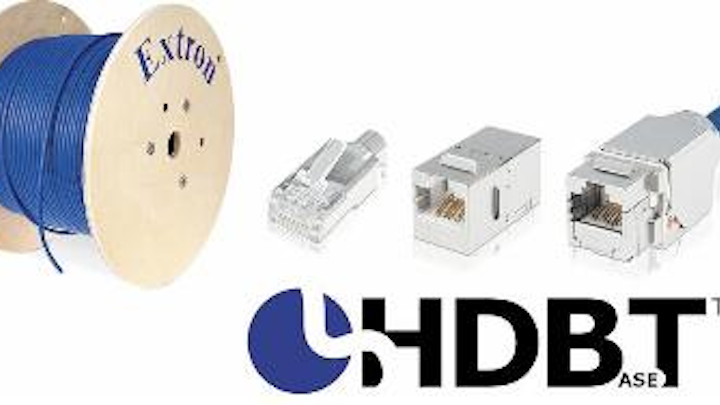 The XTP DTP 24 Shielded Twisted Pair Cable from Extron has received recommendation from the HDBase-T Alliance.