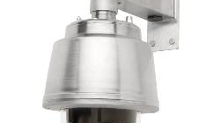 Video: Pole bracket snaps up mounting of PTZ dome network security cameras