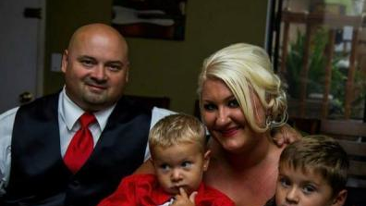 The Pearl family of Citrus Heights, CA (from left): Brian, Jaxon, Danielle and Cole.