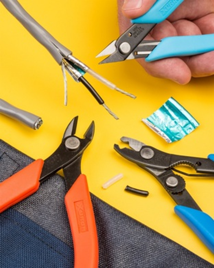 Xuron Corporation's TK2300 toolkit features a precision scissor, Maxi-Shear and wire stripper/cutter.