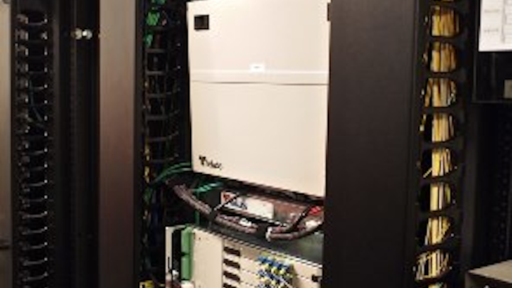 The optical line terminal (OLT) is a central component of a passive optical LAN (POL). Shown here is an OLT from Tellabs deployed at the San Diego Central Library.