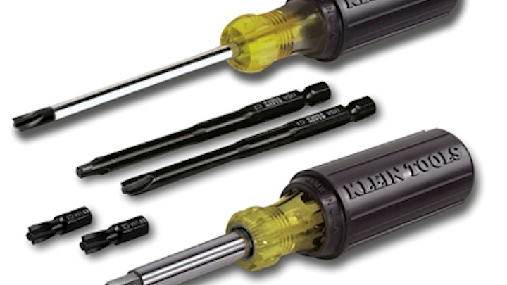 Klein Tools' Combo-Tip Drivers are designed for cable installers who encounter the combination head screws most frequently found on electrical devices and fittings.
