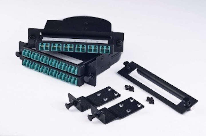 Opticonx now offers these P3Link Xtreme LGX fiber-optic adapter plates, which retrofit any of the company's P3Link Xtreme connector modules or splice modules to fit the LGX footprint.