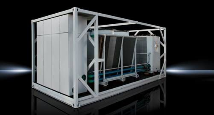 Pre-configured data center cooling container from Rittal houses modular, standardized infrastructure