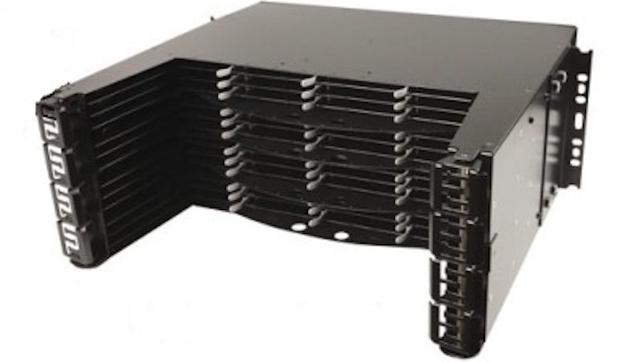 4U LightStack Ultra High-Density Fiber System  is Siemon's latest addition to its LightHouse Advanced Fiber Optic Cabling Solutions. 4U LightStack houses 576 LC fibers or 3456 MPO/MTP fibers in four rack units.