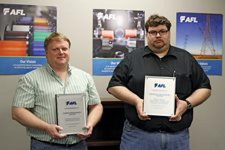 AFL engineers receive patents for fiber-optic connector cleaner, telecom equipment power supply