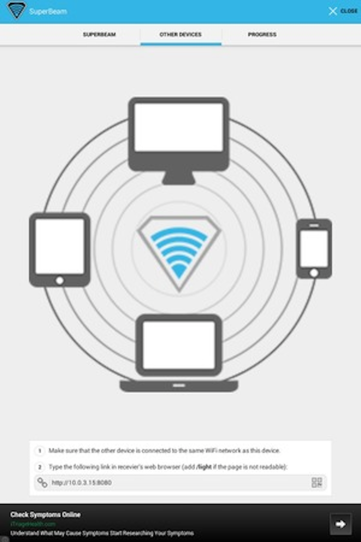 Non-network mobile application bypasses cloud, enables direct file sharing between devices
