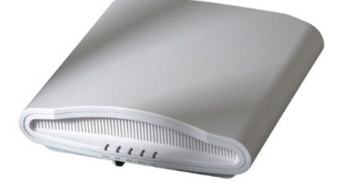 The ZoneFlex R710, available this quarter, is Ruckus Wireless's 802.11ac Wave 2 access point. Using MU-MIMO technology, the ZoneFlex R710 can achieve aggregate data rates exceeding 2 Gbits/sec. The access point is 802.3af Power over Ethernet-enabled and has dual Gigabit Ethernet ports.