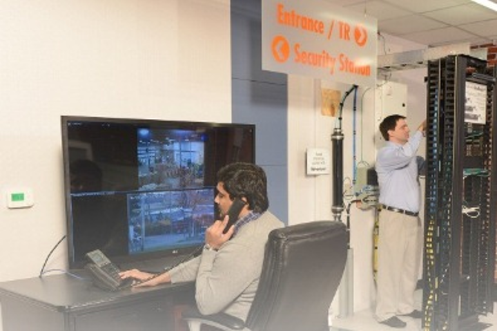 The enterprise showcase within the Berk-Tek TEK Center in New Holland, PA includes a security demo using the company's OneReach PoE Extender System; it also has direct-attach solutions on display to show how this setup can be beneficial when connecting IP devices like wireless access points, IP cameras and others.