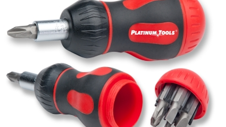 Ratcheted 'stubby' screwdriver ideal for cramped spaces - Platinum Tools