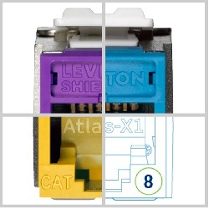 Leviton is using this image in the promotional campaign for Atlas-X1, its Category 8 connectivity system. The system, which has been confirmed by Intertek to meet current-draft Category 8 performance specifications, will be officially introduced at the BICSI Winter Conference in late February.
