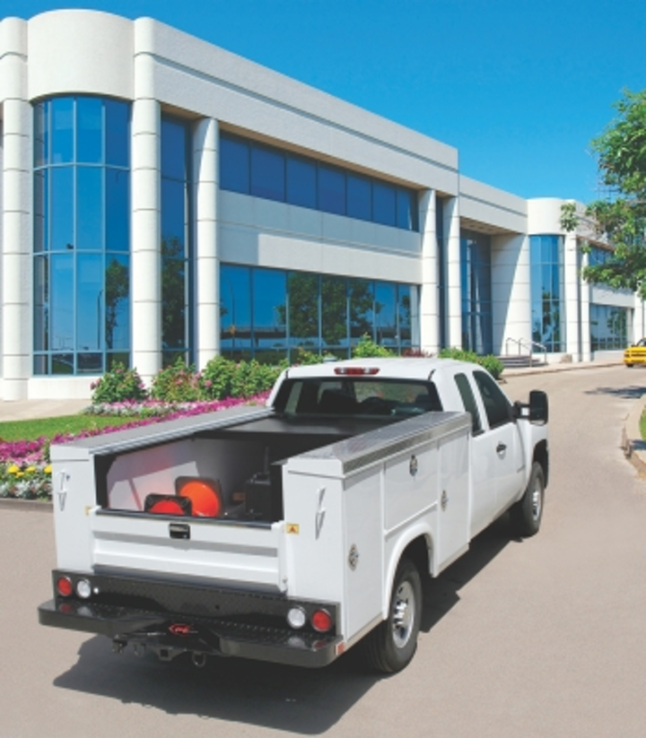 Retractable Tonneau Covers Protect Cabling Contractors Truck Bed Tools Gear Cabling Installation Maintenance