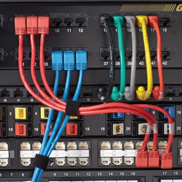 Black Box's ETL-verified Category 6A cabling channel is rated to 650 MHz and features LockPort boots, which give users the ability to lock network ports.