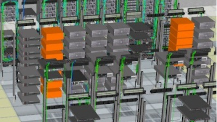 This screen capture from the iTRACS DCIM 4.1 SimpleView interface indicates its ability to let users view, manage, and interact with the data center's physical ecosystem.