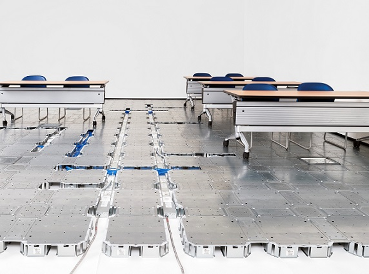 FreeAxez fine tunes underfloor cable management systems for