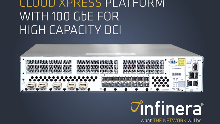 Infinera adds 100 GbE, SDN protocol support to Cloud Xpress data center interconnect family