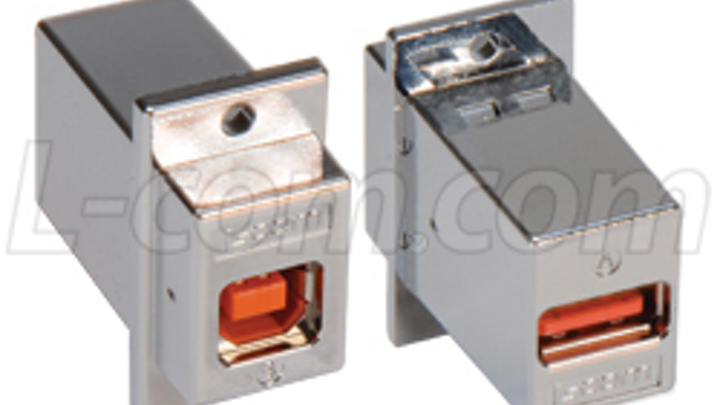 High-retention USB panel-mount couplers ease industrial connectivity