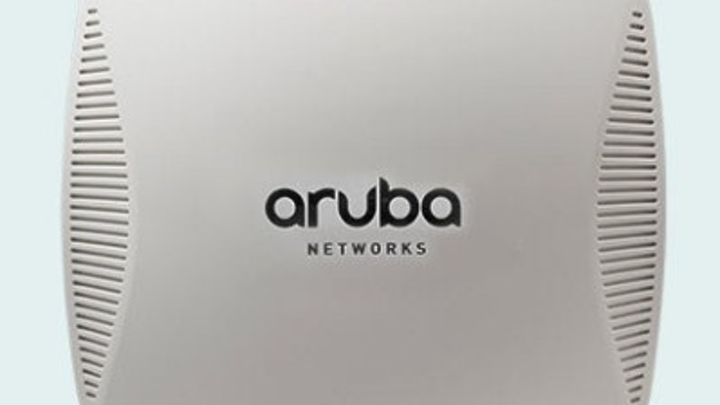 Shown here is Aruba Networks' 220 Series 802.11ac access point. This and all of Aruba's wireless LAN equipment will become part of HP's Enterprise Group upon completion of HP's $2.7-billion acquisition of Aruba, which was announced on March 2.
