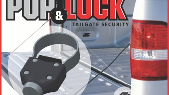 Physical security clamp locks on work truck tailgates
