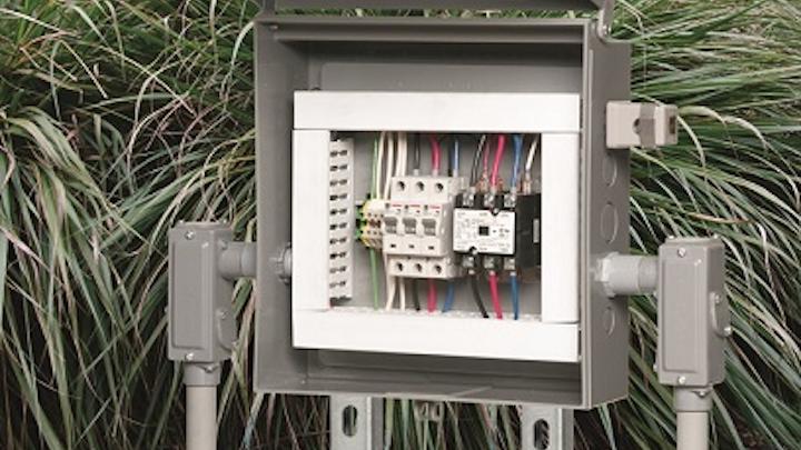 Non-metallic enclosure boxes meet NEMA 3R outdoor use requirements