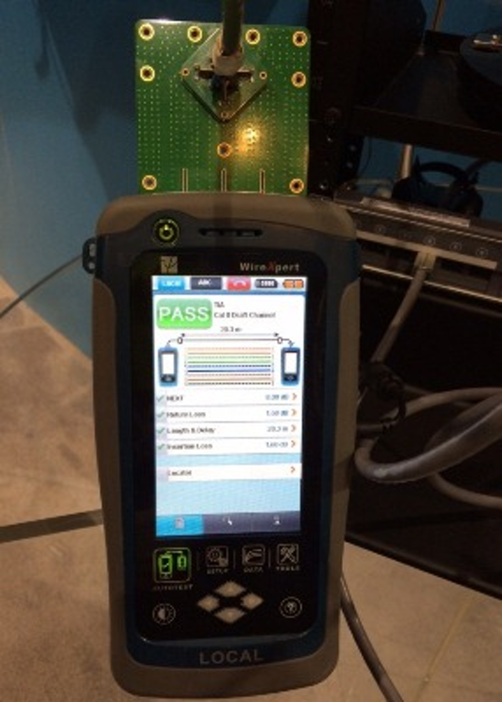 The manufacturer of this Cat 8-capable tester, Softing Inc., will deliver one of three presentations in an upcoming web seminar titled Category 8 Cabling Update - Spring 2015.