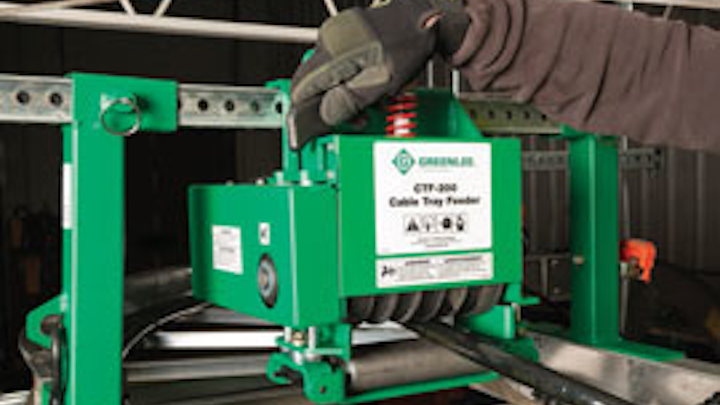 Product video: Greenlee's overhead cable tray feeder