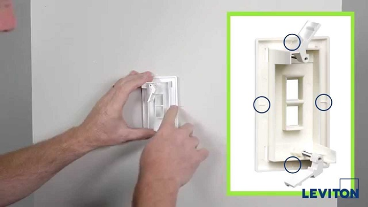 Leviton's QuickPlate Tempo wallplate simplifies alignment for AV, datacom installations