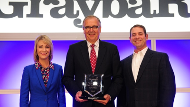 Graybar presents Hubbell with Supplier Excellence Award