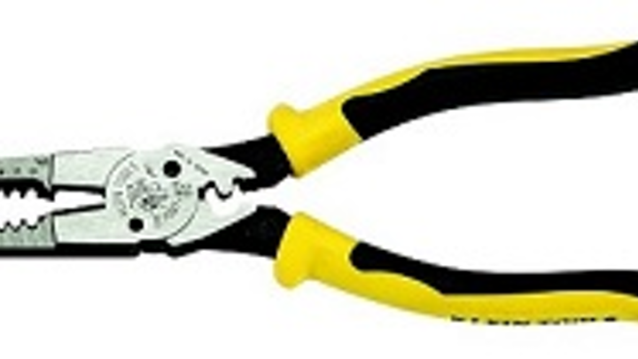 Klein Tools' latest all-purpose long-nose pliers combine crimper, wire stripper