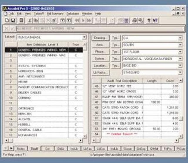 Estimating software for streamlined job bidding | Cabling
