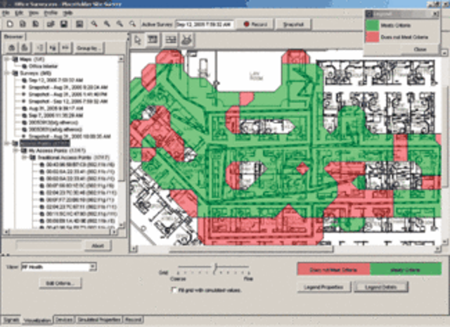 WLAN planning moves to RF coverage software   Cabling