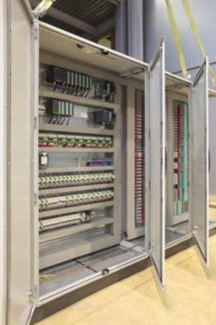 Cortec's BioEmitter can be used in electrical cabinets like this one to protect against rust and corrosion. It does not interfere with electrical, optical or mechanical performance.
