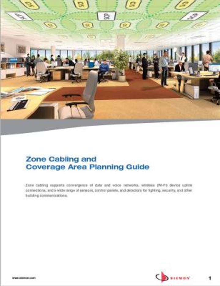 Siemon has published the Zone Cabling and Coverage Area Planning Guide, developed to assist infrastructure designers and architecture ensure flexible designs that provide benefits within intelligent buildings.