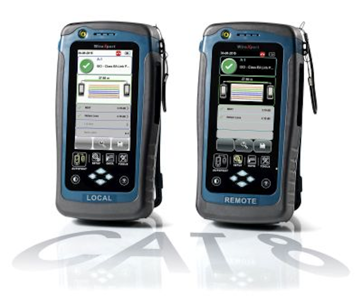 The WireXpert 4500 from Softing tests to a frequency range of 2,500 MHz, which is 25 percent more than the Category 8 cabling system maximum frequency of 2,000 MHz.