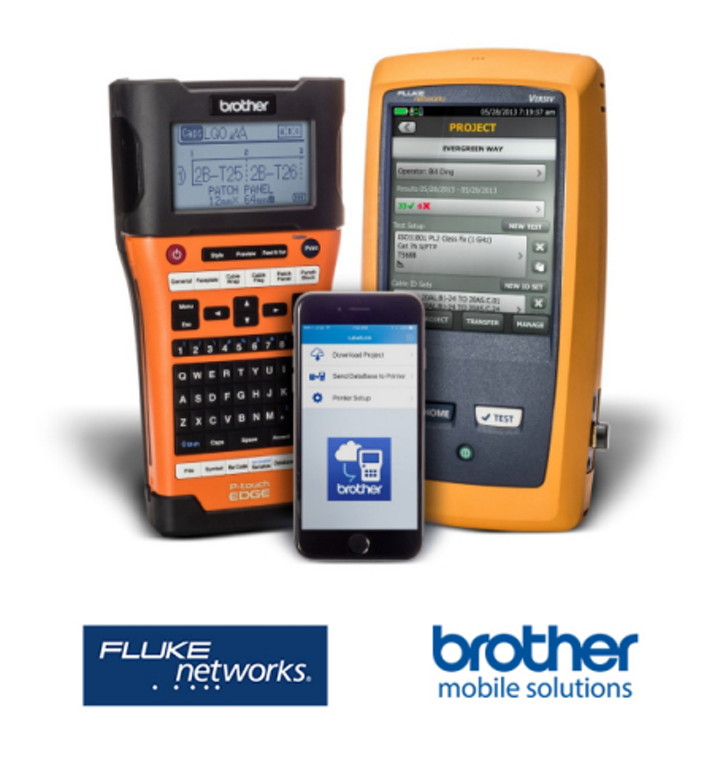 Brother's LabelLink app for integrated cable testing